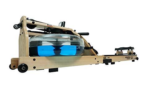 Miweba Sports Wasser-Rudergerät MR700 - Echtholz-Rudermaschine - Klappbar Wasserwiderstand & -Tank...