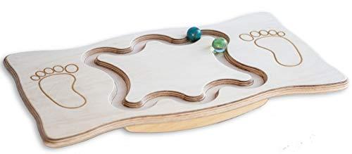 Balance Board aus Holz mit Labyrint Motorik Balancier Fußbrett