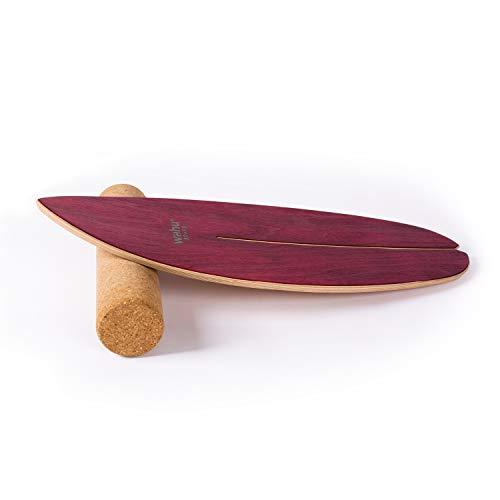 WAHU- Balanceboard (Rot) - Trickboard mit einzigartigem Rocka Shape Ink. Rolle - Balance Trainer...