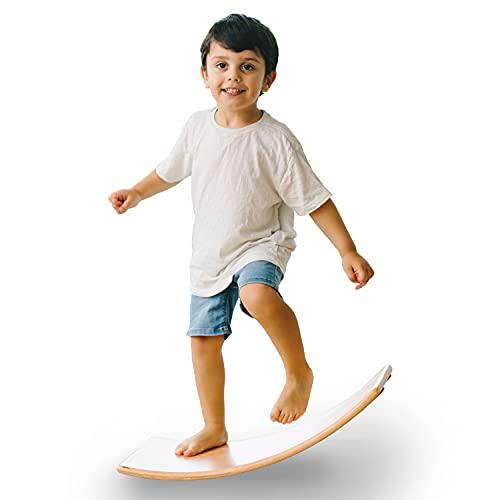 Balance Board Wackelbrett [aus Holz] für Kinder und Erwachsene Made in Germany 60x30cm Spielzeug...