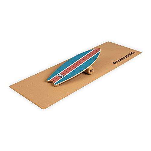 BoarderKING Indoorboard Wave Balanceboard Skateboard Surfboard Trickboard Balance Board, inkl. 10/40...