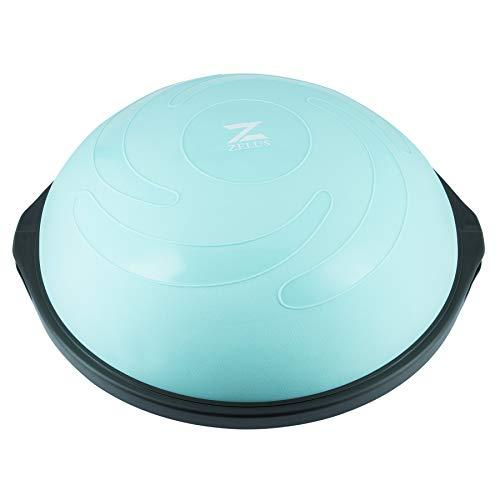Z ZELUS Balance Ball 64 cm Balance Trainer Gymnastikball mit Widerstandsbänder...
