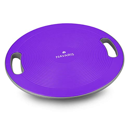 Navaris Therapiekreisel Balance Board mit Griff - Therapie Kreisel Stepper - Fitness Reha Balance...