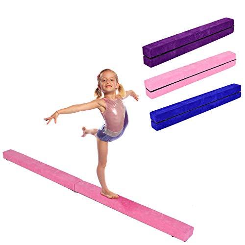 RELAX4LIFE Schwebebalken Kinder 210cm, Balancierbalken zusammenfaltbar, Balance Beam Klappgymnastik...