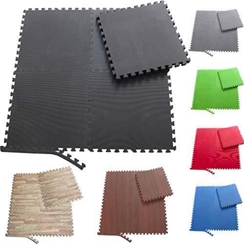 Sporttrend 24 - Schutzmatten und Randstücke Set 4-72teilig schwarz und weitere Farben 60x60x1cm  ...