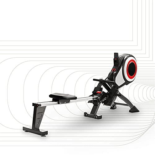 SportPlus Rudergerät mit Luftwiderstand (8 Stufen) - klappbar & mit Rollen, Rudermaschine für...