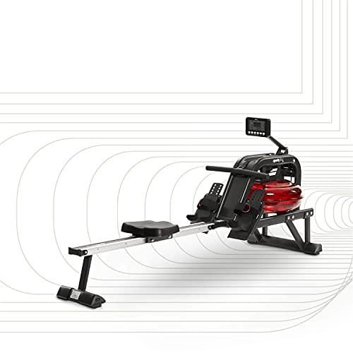SportPlus Wasserrudergerät für zuhause - Rudergerät mit 6-fach regulierbarem & realistischem...