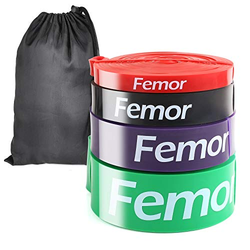 femor Resistance Bands Fitnessband, Premium Widerstandsband [4er Set], Klimmzugbänder mit Tasche,...