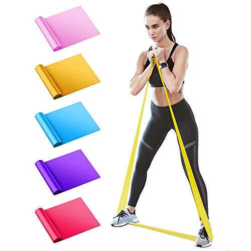 BIFY Fitnessbänder 5er-Set 1.5M Verschiedene Widerstände,geeignet für Fitness, Aerobic,...
