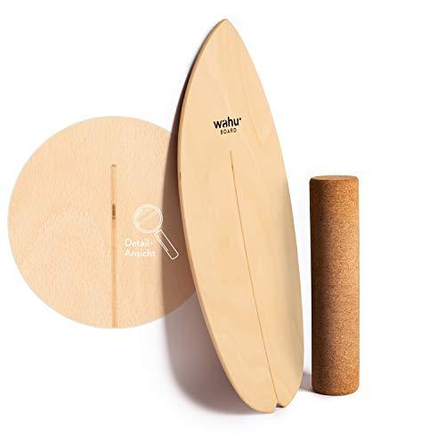 WAHU Board - Balance Board mit einzigartigem Rocker Shape inkl. Rolle - Surf Balance Board (100%...