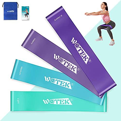 Fitnessbänder Theraband Fitness Fitnessband Gummi Set Original-4er Widerstandsbänder Krafttraining...