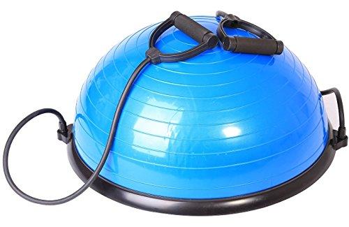 SportPlus Balance Ball Halbkugel inkl. Traningsbänder, ca. 62 cm Durchmesser, Balance Trainer für...