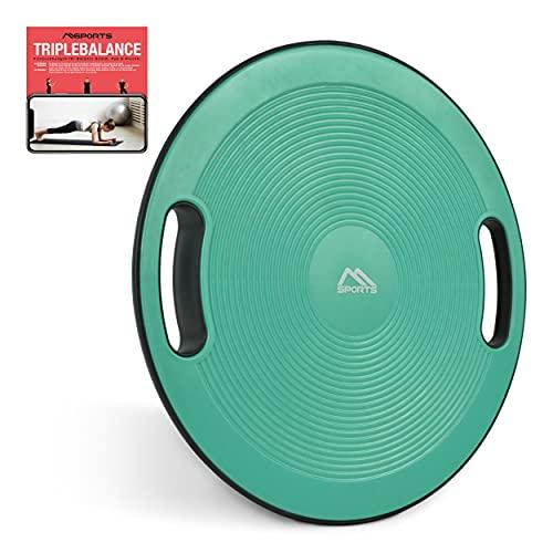 MSPORTS Balance Board Premium 40 cm Durchmesser inkl. Übungsposter und Work Out App GRATIS -...