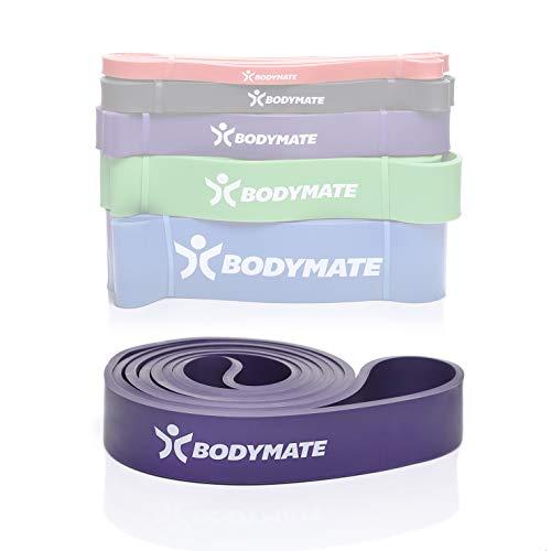 BODYMATE Fitnessband 208 cm, elastisches Widerstandsband aus Naturlatex, trainiert Kraft, Ausdauer,...
