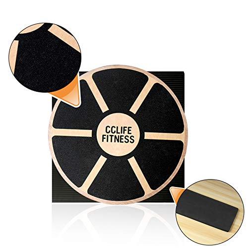 CCLIFE Balance Board 40cm Holz Wackelbrett Balance Kunststoff für Fitness Physiotherapie zur...