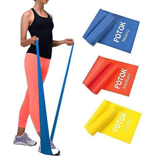 Potok Fitnessbänder 3er-Set 120 x 15 cm für Fitness, Reha, Gymnastik und Physiotherapie   Leicht  ...