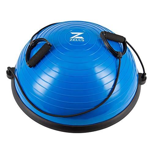 Z ZELUS 58cm Balance Ball Trainer Anti-Rutsch Balance Ball Halbkugel Balance Board mit...