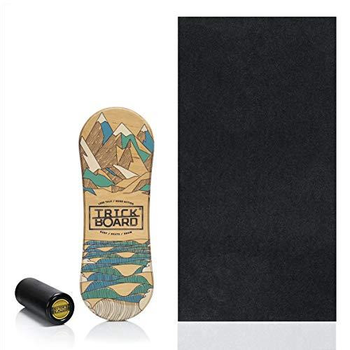Trickboard All Season Balance Board Set: Brett + Roller + Teppich + Aufkleber kostenlos - Balance...