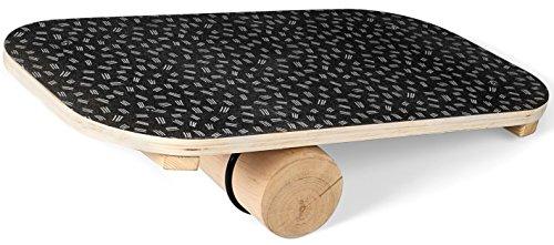 SportPlus Balance Board aus Holz mit Rolle, rutschfestes Griptape, ideal für...