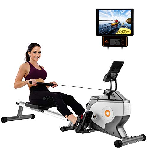 LZ Leisure Zone Rudergerät, faltbar, mit LCD-Monitor und 8 einstellbarem Magnetwiderstand