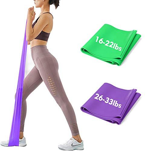 iMoebel Theraband 2er-Set Gymnastikband Fitnessbänder - 2 STÄRKEN 8-10kg / 12-15kg Premium Extra...
