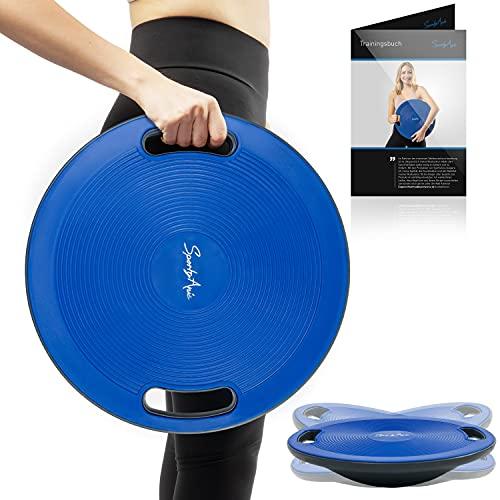 SportyAnis® Premium Balance-Board inkl. Übungsbuch, Durchmesser 42 cm - Wackelbrett...