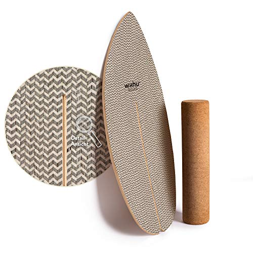 WAHU- Balanceboard (Day and Night Twill) - Trickboard mit einzigartigem Rocker Shape inkl. Rolle -...