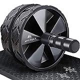 Amonax Bauchroller, bauchtrainer ab roller, bauchmuskeltrainer ab wheel set, mit Rutschfester, inkl....