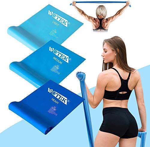 Fitnessbänder Set widerstandsbänder krafttraining fitnessband resistance bands Gymnastikband -3x...