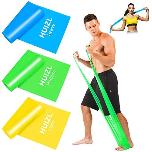 HUIZL Fitnessbänder Theraband Fitnessbander Resistance Bands widerstandsbänder krafttraining...