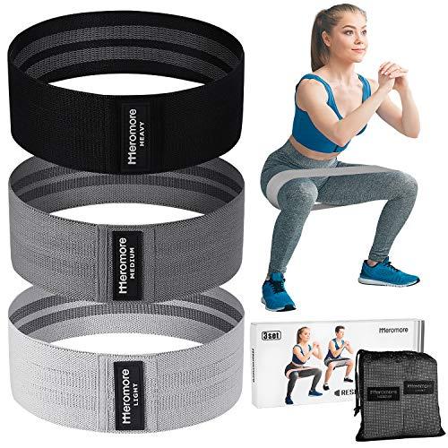 Meromore Fitnessband [3er Set] Fitnessbänder/Widerstandsbänder Set Loop-Band für 3...