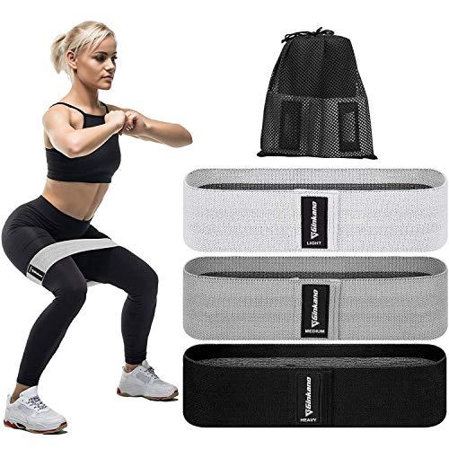 Haquno Resistance Bands, 3pcs Fitnessbänder Hip Widerstandsbänder Set mit starker Dehnbarkeit, 3...