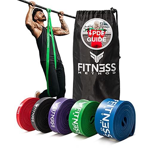 Fitness Method® Resistance Bands - Innovative Widerstandsbänder Set/Einzeln inkl. Tasche +...