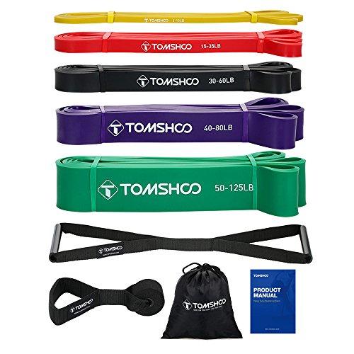 TOM SHOO Fitnessbänder Set, Resistance Bands, Fitnessbänder Widerstandsbänder 100% Naturlatex...