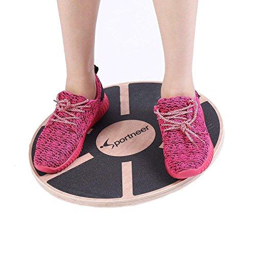 Sportneer Wackelbrett Balance Board Holz Durchmesser 40cm Gleichgewicht Board- professionel für die...