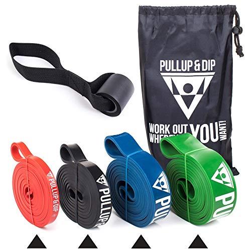 Fitnessbänder Widerstandsbänder mit Tasche und gratis Übungsanleitung - Klimmzugband...