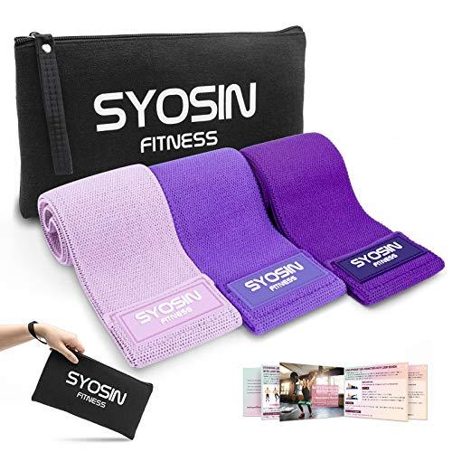 SYOSIN Fitnessbänder, [3er Set] Widerstandsbänder Set Loop-Band für Hüften und Gesäß, 3...