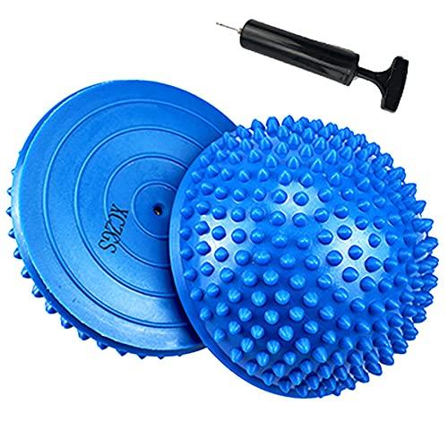 2er-Set Therapie Balance Igel, Balance-Igel Set, Fitness Halbkugel mit Luftpumpe Trittstein für...