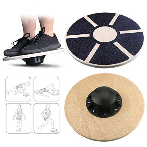 Gifort Gleichgewichtsbrett, Balance Board Holz,Wackel-Brett Therapie-Kreisel Balance-Brett...