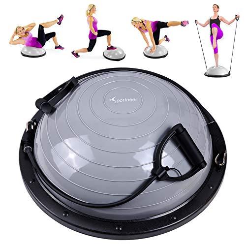 Sportneer Balance Ball, Balance Board mit Widerstandsbändern, Balance Trainer Bonus-Pumpe für Yoga...