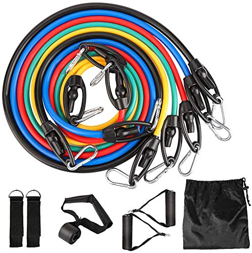 Resistance Bands Expander Bänder Widerstandsband Set mit Trainingsguide Fitnessbänder-Set,...