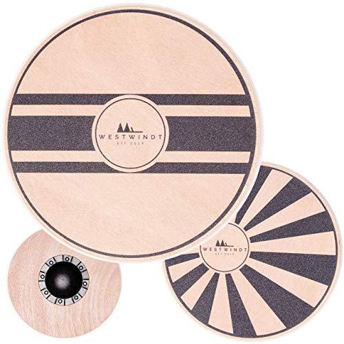 WESTWINDT® Holz Balance-Board in Zwei Varianten für Fitness, Muskelaufbau und Entspannung -...