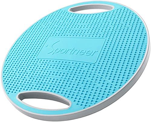 Sportneer Wobble Balance Board, Übungsbalance Stabilitäts Trainer Tragbares Balance Board mit...