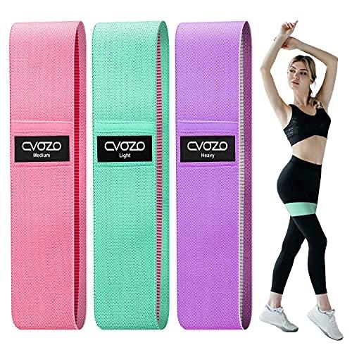 CVOZO Widerstandsbänder Fitnessbänder, [3er Set] Fitnessband Theraband 3 Widerstandsstufen...