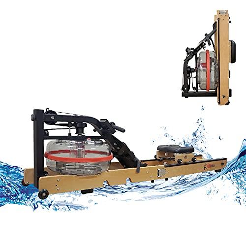 Fitifito WR19 Rudergerät Wasser-Rudergerät klappbar für zu Hause, vormontiert, max. 170 kg, 17L...