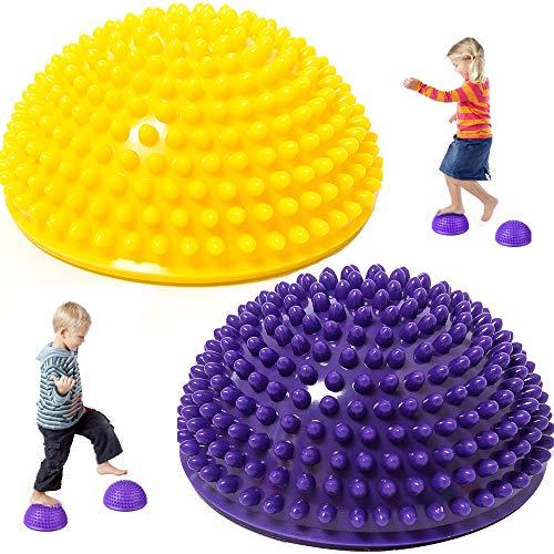 Lezed Igel Balance Halbkugeln Igelball Balance Ball Balance Pod Igel Gymnastik Yoga Balance-Kugel...