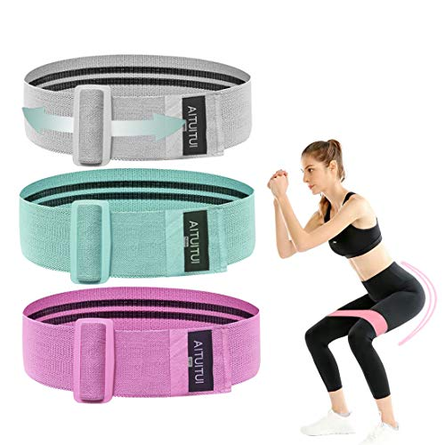 Micovay Einstellbar Fitness Loop Band, 3 Widerstandsstufe Widerstandsbänder Übungsbänder Fitness...