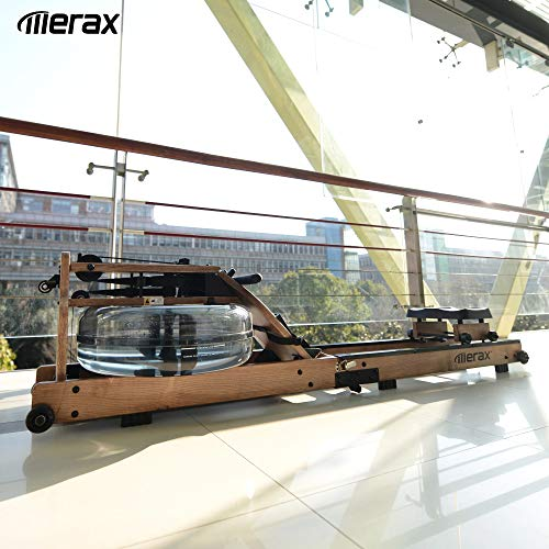 Merax Rudergerät Wasser-Rudergerät mit Faltfunktion,LCD-Display,Bluetooth,APP,Rower Fitnessgeräte...