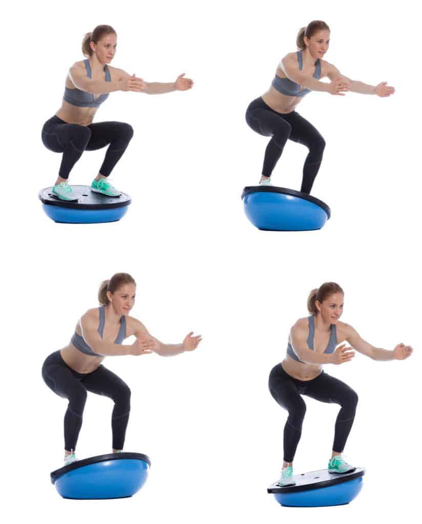 Balancetraining auf einem Balance Ball