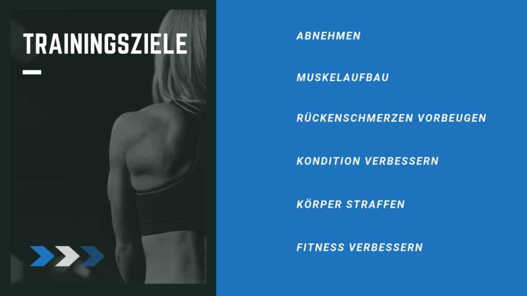 Trainingsziele
